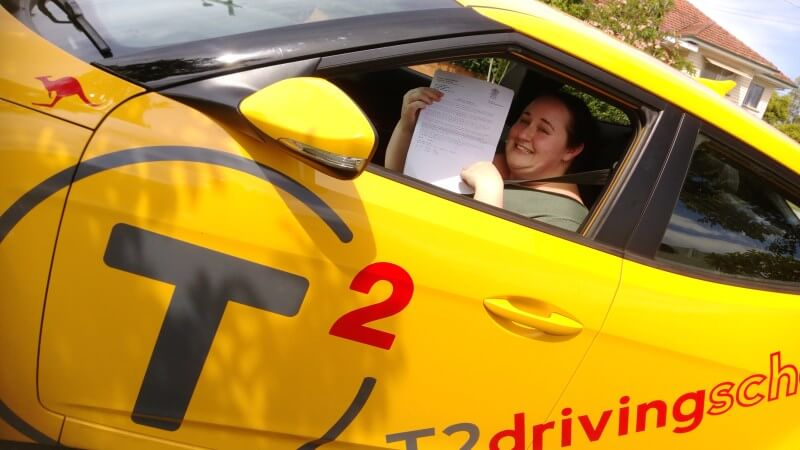 Another pass for a T2 Driving School student